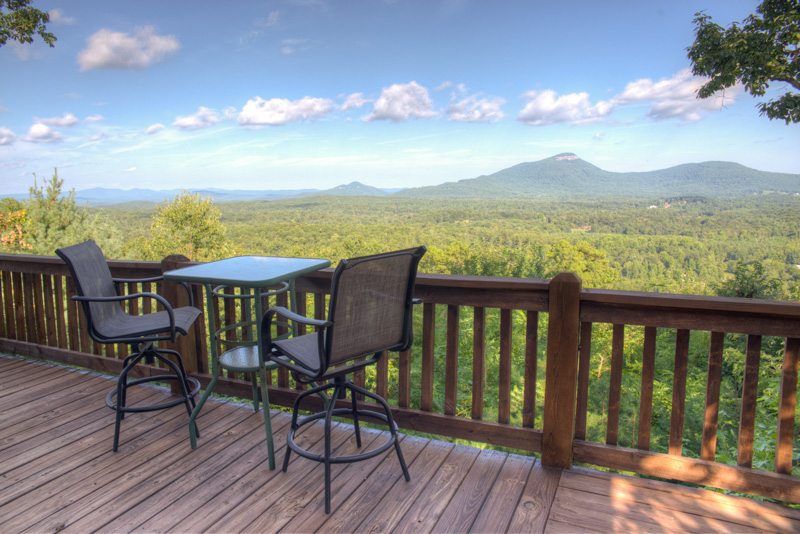 View of Yonah Mountain from the deck of Bella Vista II.