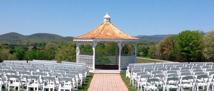 Three Sisters Vineyards wedding venue near Helen,Ga with a gorgeous backdrop of mountains.