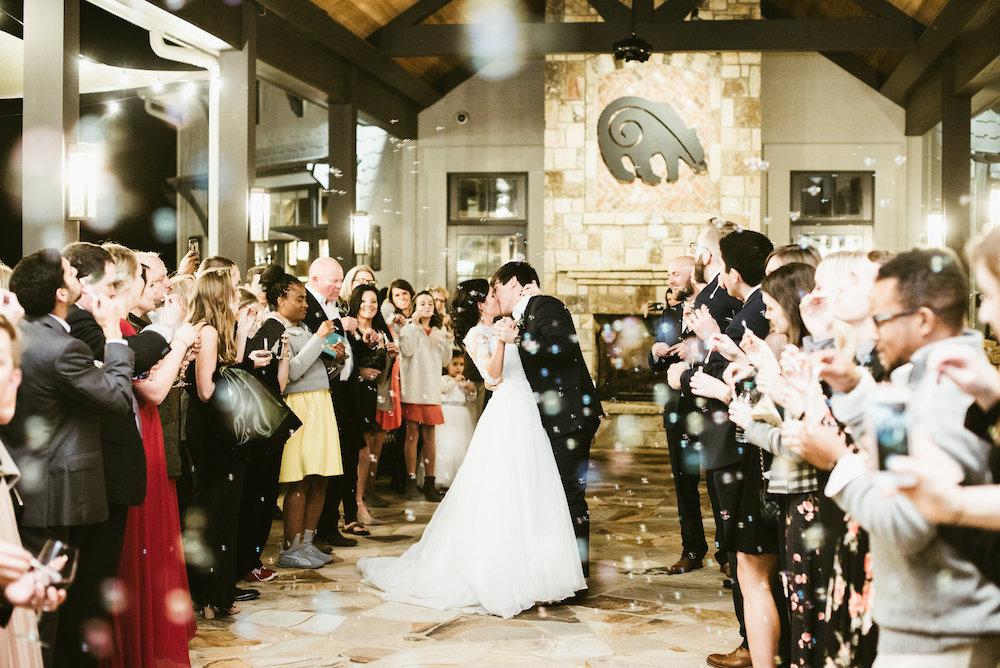 Wedding ceremony at Yonah Mountain Vineyards.