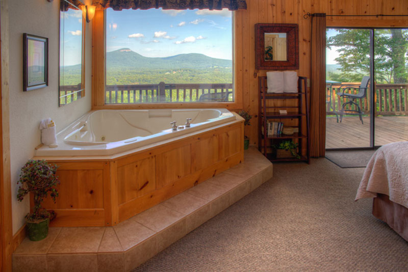 Long range views from the master bedroom at Bella Vista II cabin.