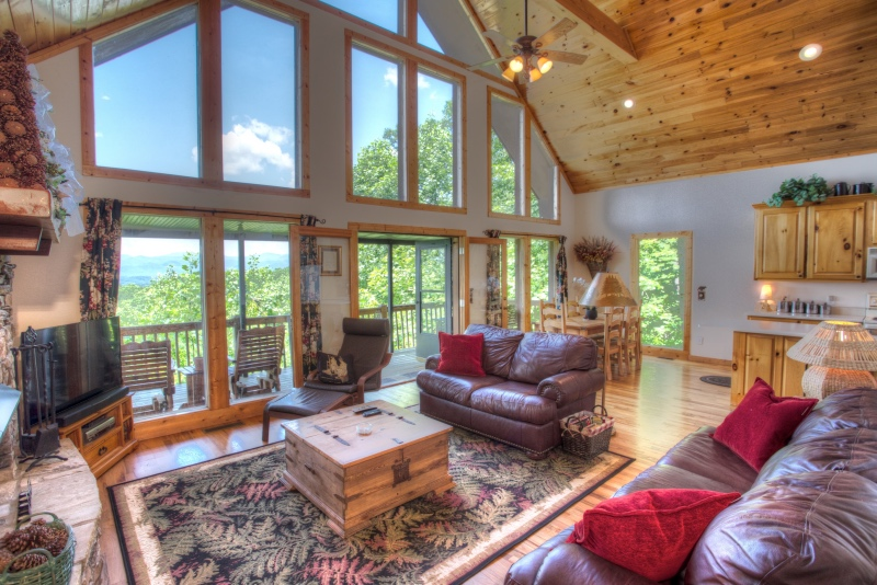 Amazing views from the living room at Eagles View.