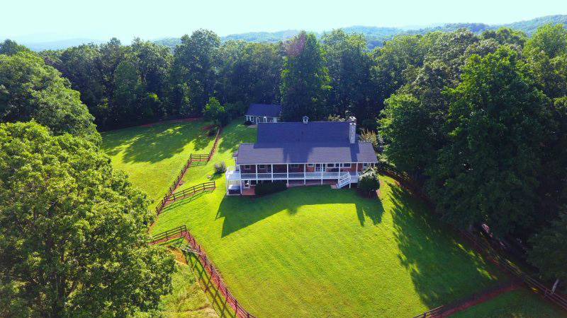Sautee Valley View, rental home with gorgeous valley and mountain views near Helen, Ga.