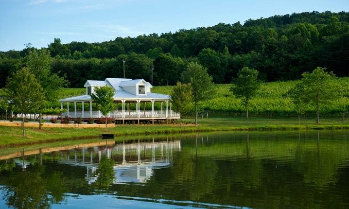 Frogtown Cellars Vineyard and Winery's mountain destination wedding venue near Helen, Ga.
