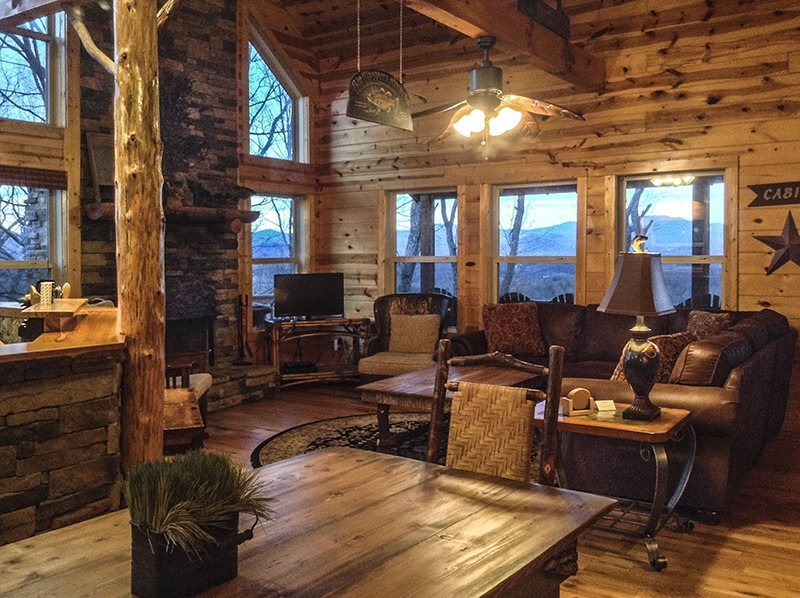 2 bdr luxury vacation cabin rental on mt yonah near helen ga for Helen luxury cabin rentals