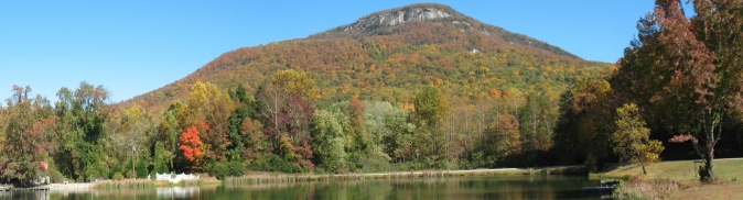 yonah mountain from chambers lake